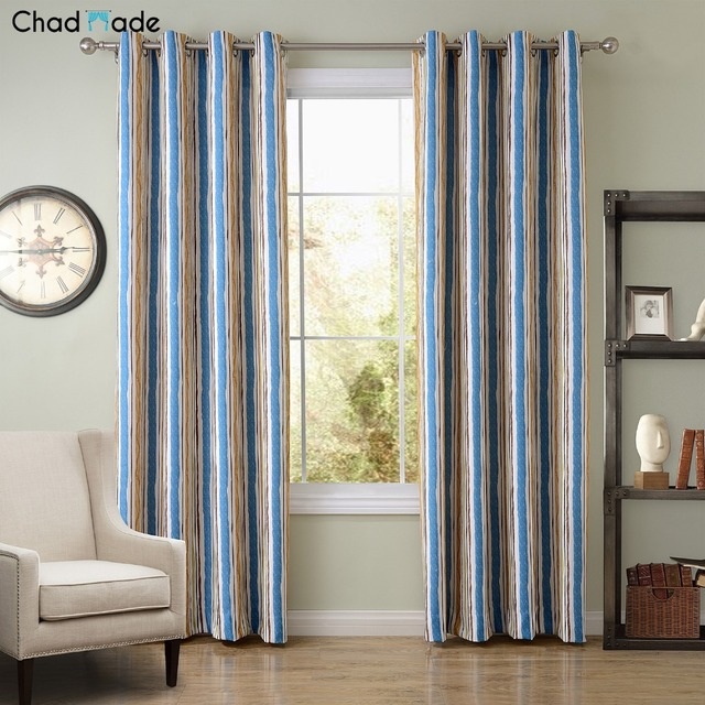 Chadmade Decoration Printed Blackout Curtain Fabrics Use For Home Office School Hotel Modern Curtains Living
