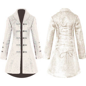 Jacket Cosplay Edwardian Frock Vintage Costume-Uniform Steampunk Overcoat Medieval Prince