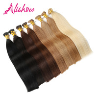 Alishow 1g S UPS Free Shipping Remy Pre Bonded Human Hair Extension Straight Fusion Hair Keratin