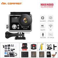 Comfast Ultra HD 4K Wifi Action Camera 1080p Hd Diving Waterproof Remote Sports Video Camera DV