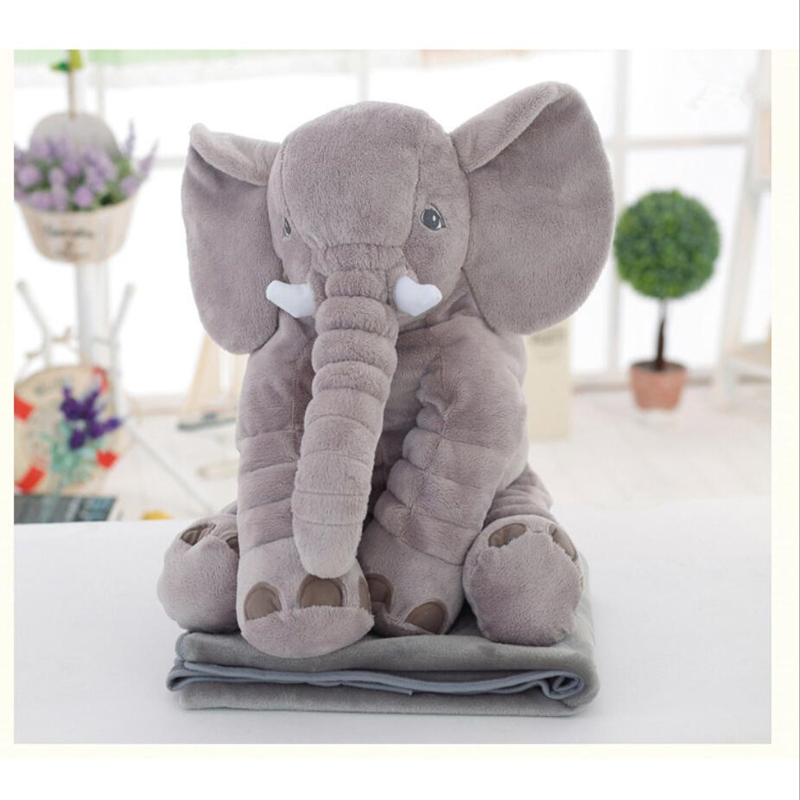 Cartoon 65cm Large Plush Elephant Toy Kids Sleeping Back Cushion stuffed Pillow Elephant Doll Baby Doll Birthday Gift for Kids 55cm cute cartoon lilo and stitch warm hand pillow plush toy doll stuffed pillow cushion toys dolls warm hands stitch kids toy