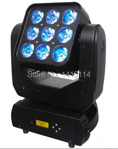 new product dj equipment 9X12W 4 in 1 OSRAM RGBW led matrix beam moving head disco light ...