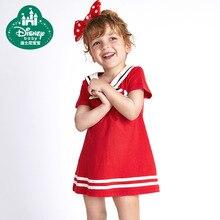 Disney Princess Girl Dress Cotton Striped Sailor Fashion Party Wedding Cloth Summer Kids Casual