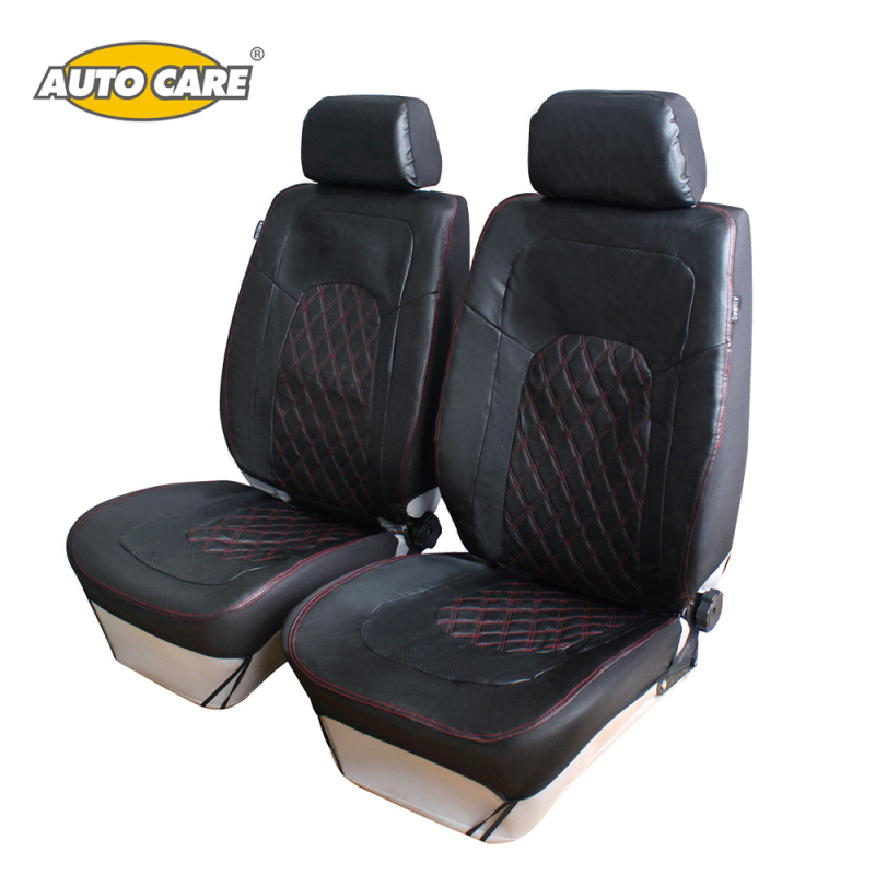 auto care breathable pu leather front car seat covers 2pcs universal fit car interior. Black Bedroom Furniture Sets. Home Design Ideas