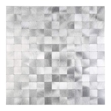 5 Pieces Peel and Stick Metal Mosaic Wall Tiles For Kitchen Bathroom Backsplash Stainless Steel 3D Wall Stickers Vintage 12 Inch fashion stainless steel metal mosaic glass tile kitchen backsplash bathroom shower background decorative wall paper wholesale
