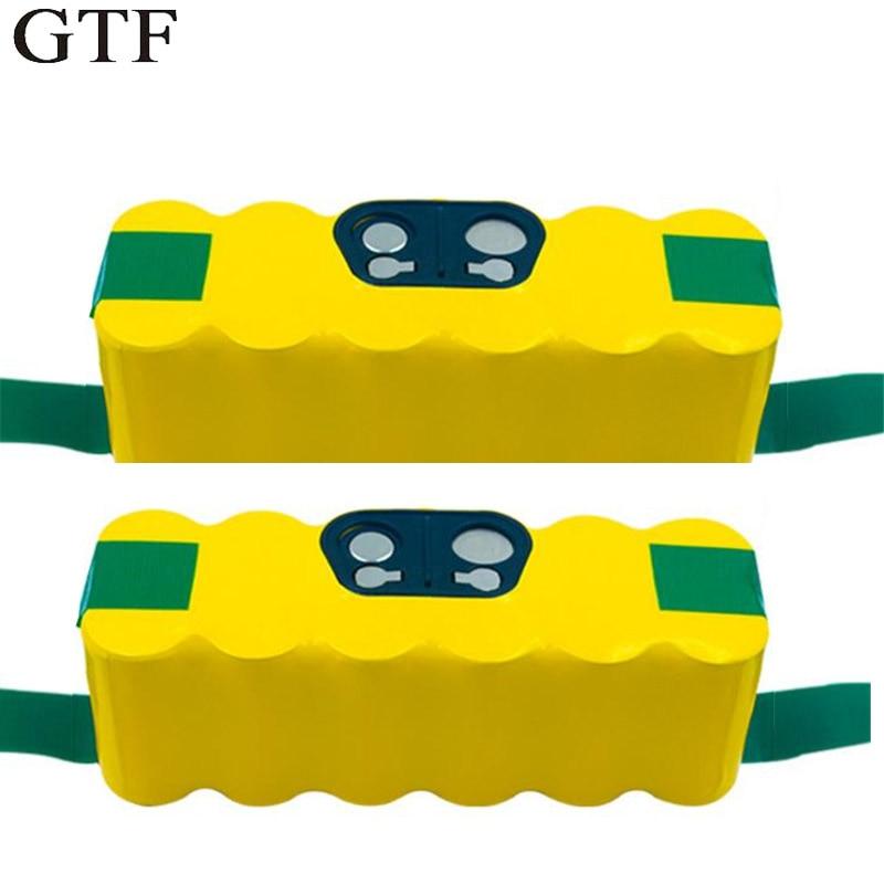 GTF 14.4 V 4500 mah NI-MH Rechargeable Batterie pack Pour iRobot Roomba 500 600 700 800 Aspirateur Remplacement Accumulateurs