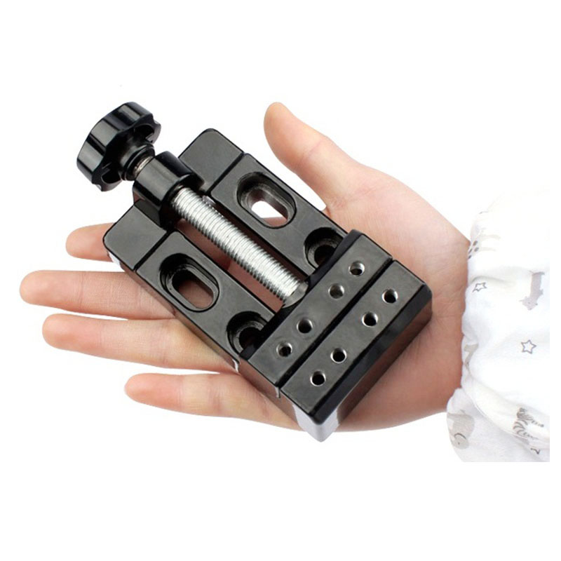 Posional Mini Flat Clamp Table Jaw Bench Clamp Drill Press Vice Opening Parallel Table Vise DIY Sculpture Craft Carving Tool Woodworking Hand Tool
