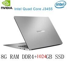P2-42 8G RAM 1024G SSD Intel Celeron J3455 NvIDIA GeForce 940M Gaming laptop keyboard and OS language available for choose