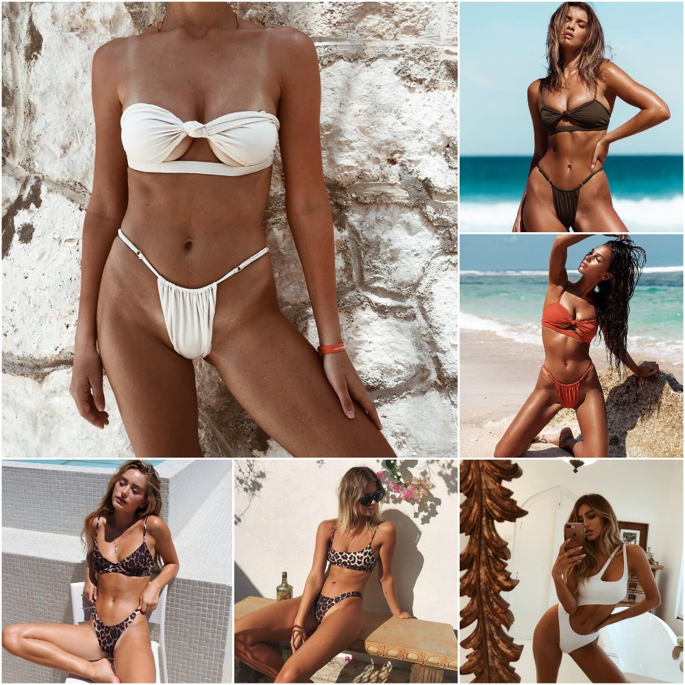 Bikini 2018 Maillot De Bain Femme Swimsuit Women Sexy Pure Lace Strap Bikini Set Bathing Suit Women Swimming Suit Купальник