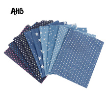AHB 40*50CM Soft Denim Fabric Navigation Series Printed DIY Shoes Clothes Dolls Handmade Skirt Jeans Patchwork Materials