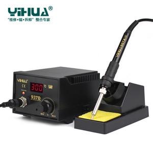 Image 5 - 220 v/110 v 50 ワット温度制御 esd デジタルはんだステーション/リワークステーション一華 937D eu/米国のプラグイン