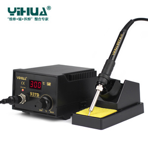 Image 5 - 220V/110V 50W di Controllo della Temperatura ESD Stazione di Saldatura Digitale/Stazioni di Rilavorazione YIHUA 937D con UE/Spina DEGLI STATI UNITI