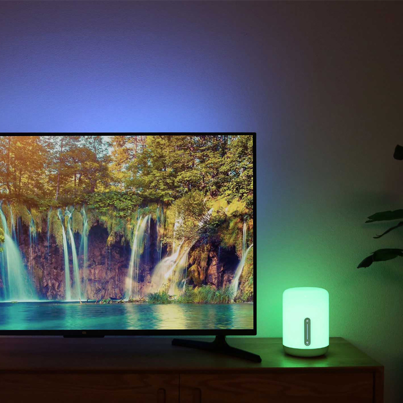 Original Xiaomi Mijia Mi Bedside Lamp 2 Bluetooth WiFi Touch Panel APP Control RGB Table Lamp Works with Apple HomeKit Siri-in Smart Remote Control from Consumer Electronics    3