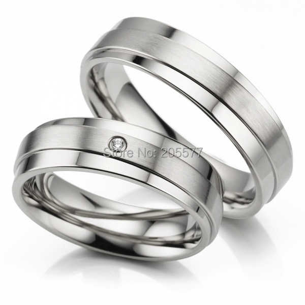 Anel De Prata White Gold Color His And Hers Rings Handmade Titanium Wedding Rings Engagement Cz Diamonds Rings Sets
