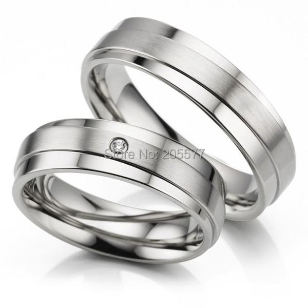 anel de prata white gold color his and hers rings handmade titanium wedding rings engagement cz - Titanium Wedding Ring Sets