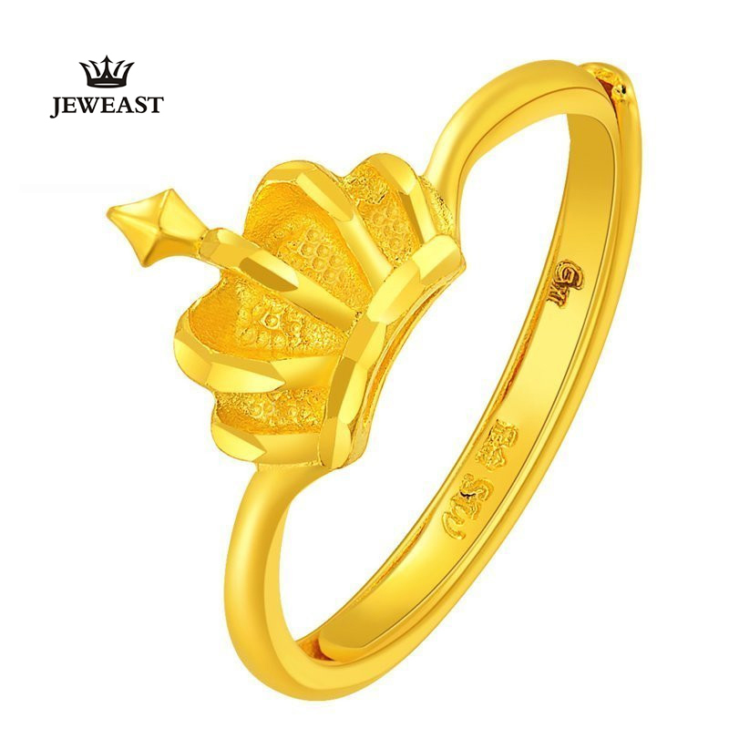 ZZZ JEWEAST 2017 New Hot Sell Womens 24k Pure gold rings with Fashion&Romantic Personality crown Design For Wedding OZZZ JEWEAST 2017 New Hot Sell Womens 24k Pure gold rings with Fashion&Romantic Personality crown Design For Wedding O