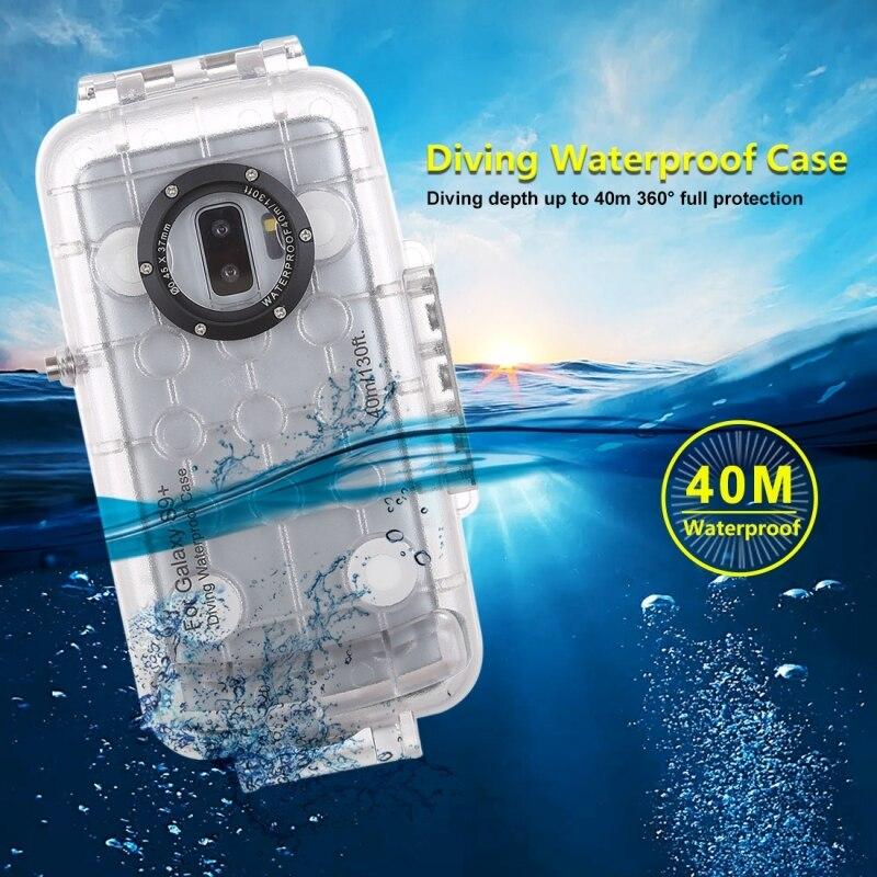40 M Plongée Sous-Marine étui pour Samsung Galaxy S9 Étanche Sport de Natation Coque Pour Samsung Galaxy S9 Plus Surfriding