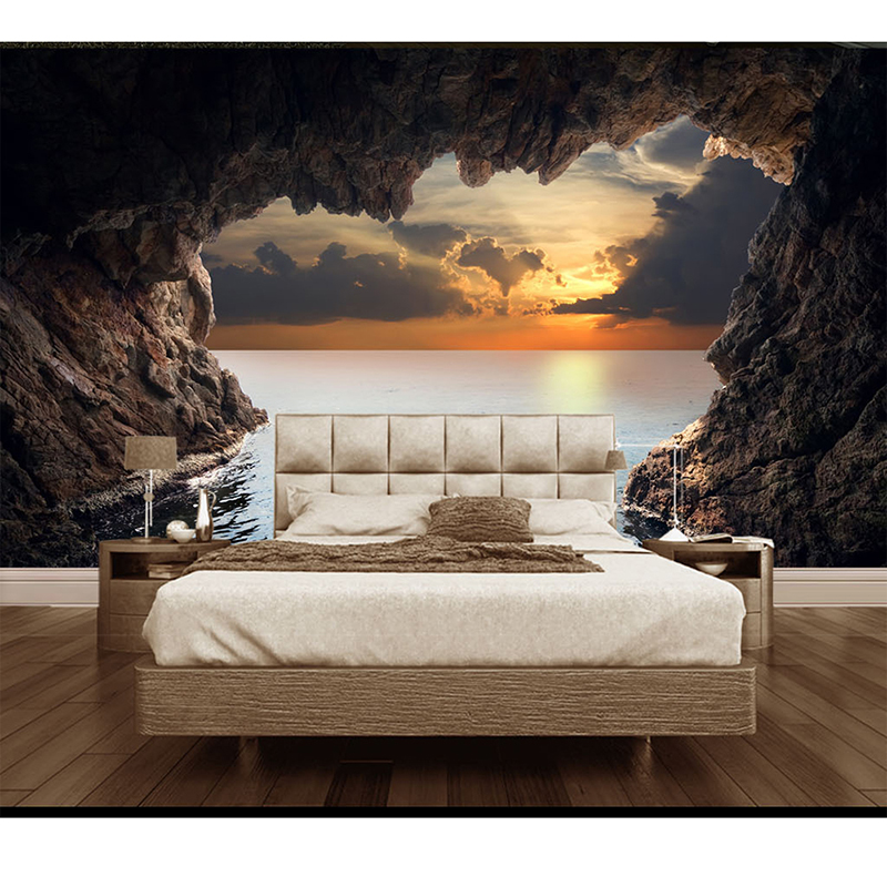 Buy 3d custom mural diy wallpaper for for 3d interior wall murals