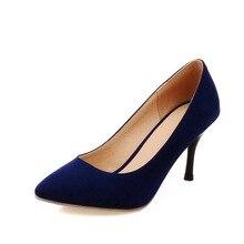 3สีร้อนแฟชั่นรองเท้าส้นสูงปั๊มสตรีแหลมนิ้วเท้าบางผู้หญิงหวานส้นรองเท้าเซ็กซี่ที่สวยงามรองเท้าเดียว