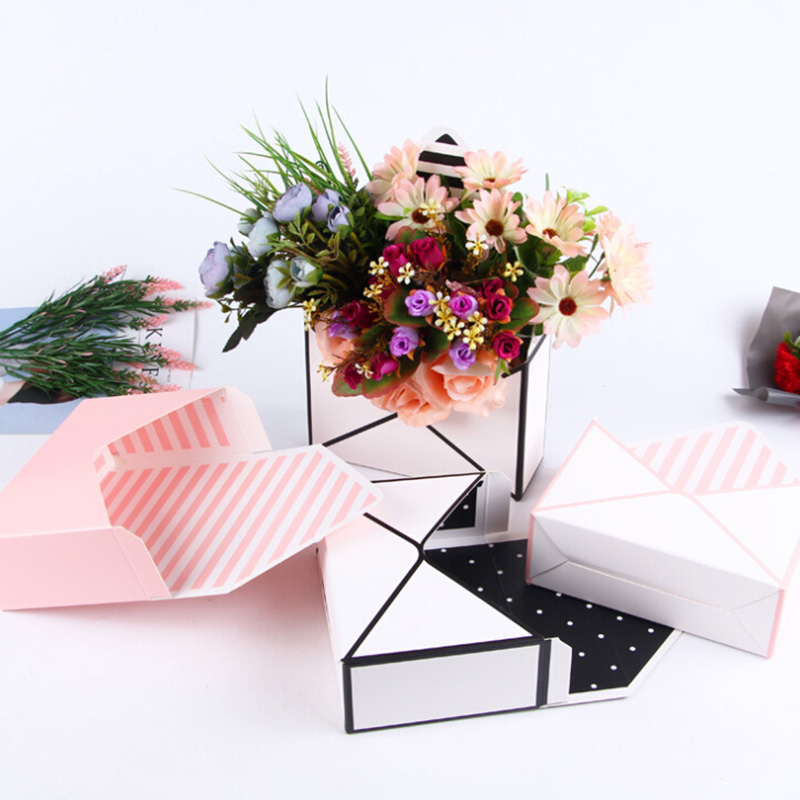 6PC Creative Mini envelope type box creative Korean flower bouquet floral hand folded gift box Valentine 39 s Day flower gift box in Gift Bags amp Wrapping Supplies from Home amp Garden