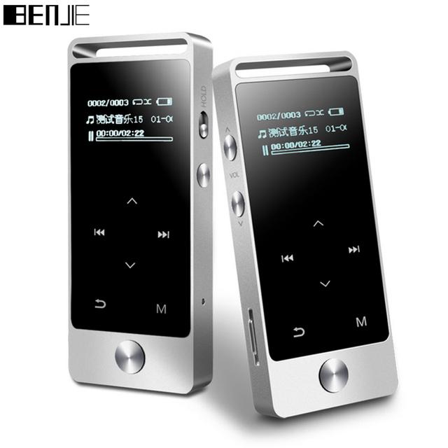 Benjie original s5 verdadero 8 gb sin pérdidas de alta fidelidad reproductor de música mp3 táctil pantalla de Alta calidad de sonido del metal MP3 E-book FM radio Reloj de Datos