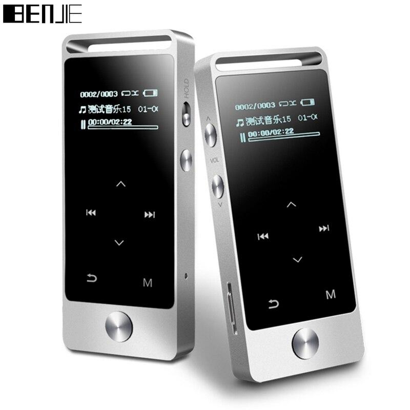 Original BENJIE S5 echt 8 GB verlustfreie HiFi MP3 musik-player Touch bildschirm Hohe klangqualität metall MP3 E-buch FM radio Uhr Daten