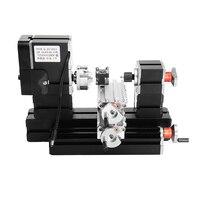 חדש 60 W 12000 rpm מיני מתכת מסתובב דגם מחרטת עץ מחרטת DIY ביצוע ערכת כלי מכונת כרסום