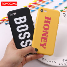 TOMOCOMO For 8 8Plus X 7 7Plus Lover Boss Honey King Queen Soft TPU Silicone Matte Case Fundas Coque Cover For iPhone 6 6S 5 SE(China)