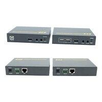 4 К HDBaseT HDMI kvm удлинитель с HDMI 1.4 В до 100 м 3D HDMI POE usb extender за utp/stp RJ45 CAT6 кабель Поддержка ИК и RS232