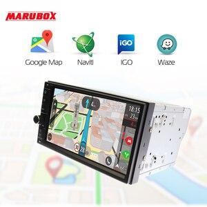 """Image 4 - MARUBOX العالمي مزدوجة الدين سيارة راديو GPS الروبوت 9.0 4 GB RAM 32 GB ROM 7 """"IPS نافي ستيريو مشغل وسائط متعددة نظام ذكي"""