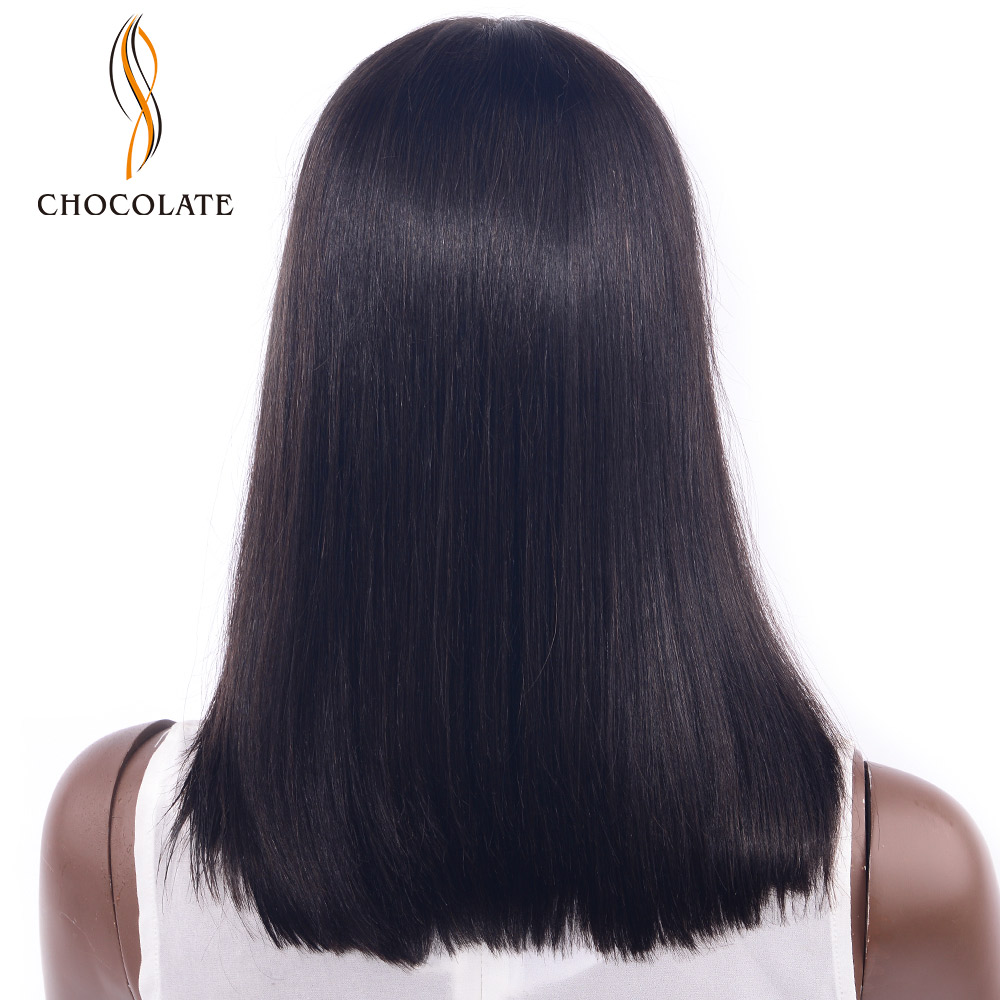 CHOCOLATE Glueless Bob Wig Malaysian Straight Short Lace Front Human Hair Wigs For Black Women Pre Plucked With Remy Hair