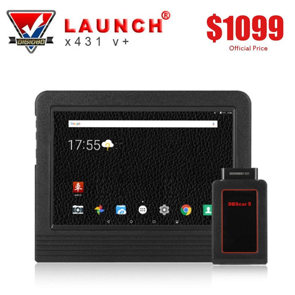 Запуск X431 V + полный Системы диагностический OBD2 Wifi Tablet сканирования 2 лет обновление Bluetooth Разъем и выполните аксессуары