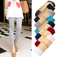 2016 New Product Women's Fashion Korean Style Candy Color Modal Cotton Slim Leggings Pants