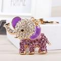 Purple Elephant Lovely Creative Crystal Pendant Charm Purse Bag Car Key Ring Chain  Nice&Substantial Gift Original Handmade