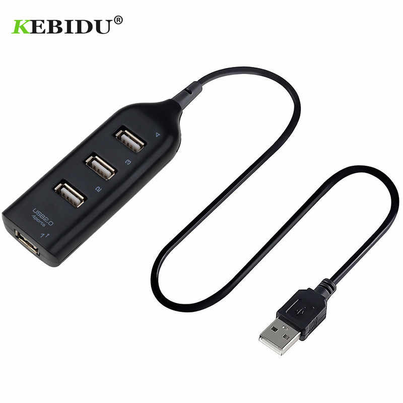 Kebidu Hi-Speed 4 Port USB Adapter Splitter Mini USB 2.0 Adapter 4-Port Splitter dla Laptop PC Notebook na przenośne dyski twarde