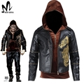 Suicide Squad Killer Croc cosplay costume Halloween costume adult Fancy jacket men Killer Croc hoodie leather jacket custom made