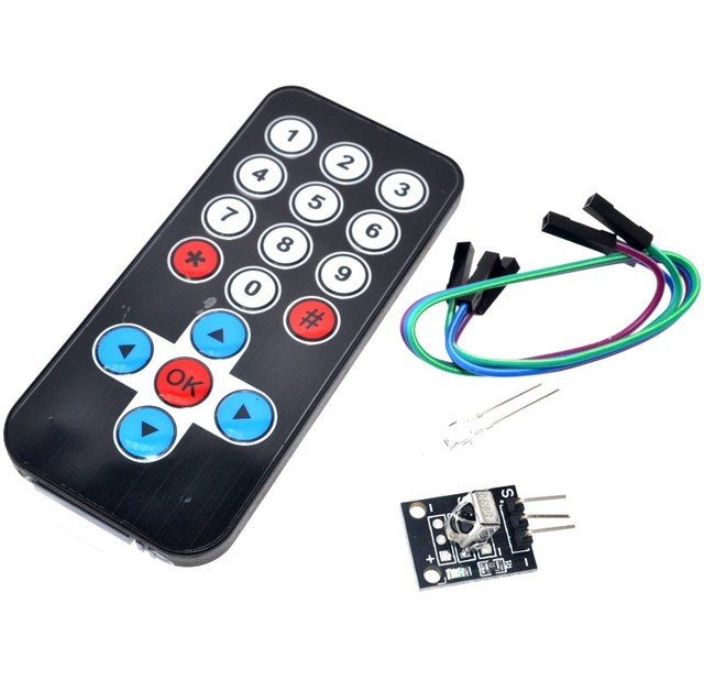 1 lote de Kits de módulo de Control remoto inalámbrico infrarrojo IR Kit de bricolaje HX1838 para Arduino Raspberry Pi