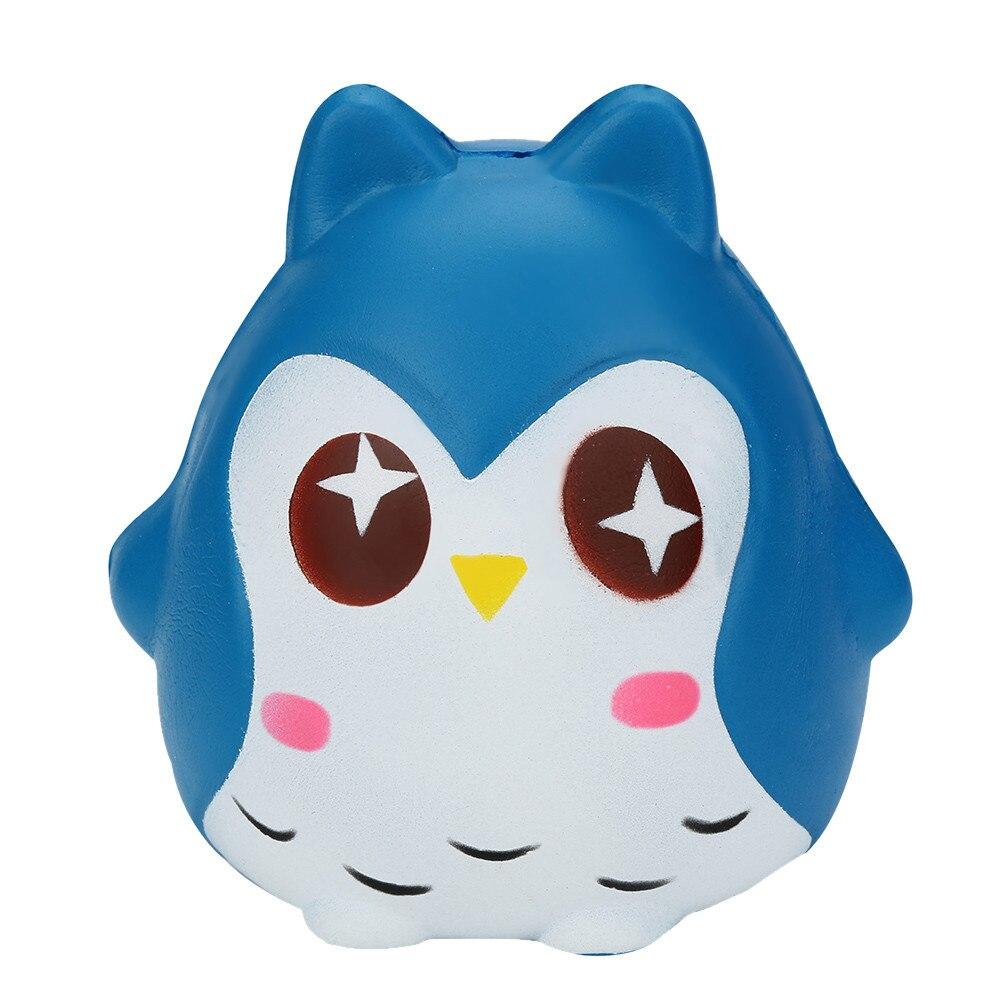 New Kawaii Jumbo Owl Doll Squishy Slow Rising Anti Stress Soft Squeeze Cake Bread Straps Kid Fun Toy Gift Wholesales