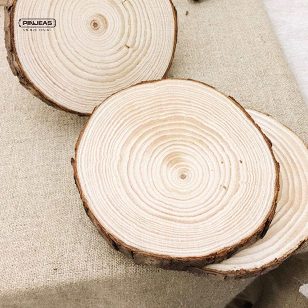 Pinjeas wood craft 100 nature wooden decor slice diy for Wooden garden ornaments and accessories