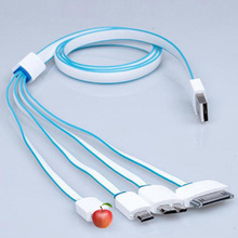 Multi Head Multi-Function Charge Cable Four in One Universal