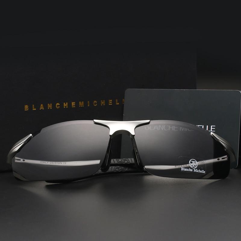 2018 Aluminium Magnesium Kacamata Pria Terpolarisasi UV400 Mengemudi - Aksesori pakaian - Foto 4