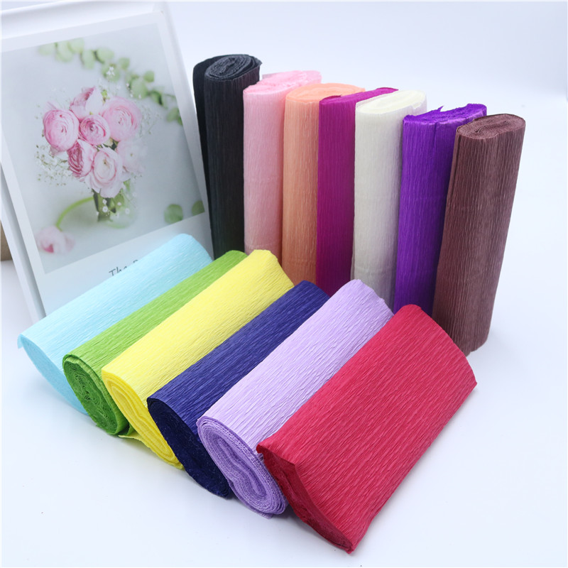 15*250cm Multicolor Wrinkles Paper Rolls Creping Paper Streamers DIY Flower Decotration Romantic Wedding Party Decoration