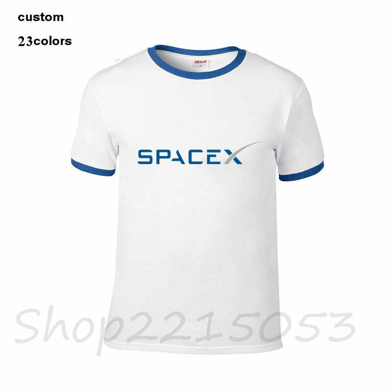... 2018 SpaceX Space X Logo T-Shirt Men s Popular Cool Custom Short Sleeve  Boyfriend Plus ... 7c73b9aa2052