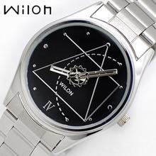 Спортивные часы Wilon 2318 г пару часов для любителей Код да Винчи Стиль аналоговые кварцевые часы Нержавеющаясталь Группа платье часы