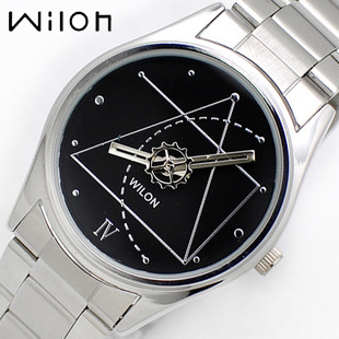 Sports Watch Wilon 2318G Couple Watches For Lovers The Da Vinci Code Style Analog Quartz Watch Stainless Steel Band Dress Watch