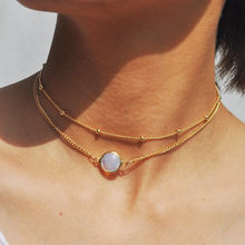 NK258 European Sexy Minimalist Chokers Necklace Women Fashion Jewelry Multilayer Beads Chain Collares Beach Bohemian Necklaces(China)