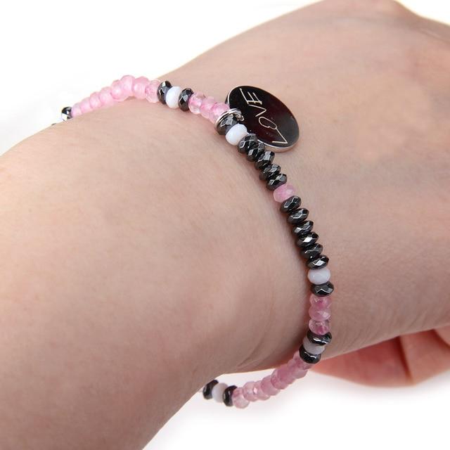 Bracelet Rhodonite Quartz 6mm