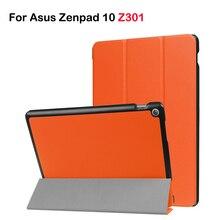 PU Funda de piel Para Asus Zenpad 10 Z301 Z301MLF Z301ML Z301 (2017 nueva versión) tri-fold Funda protectora para Asus 10.1 Tablet