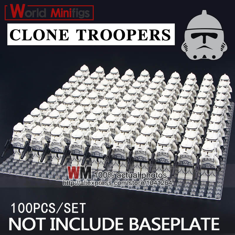 100pcs lot Building Blocks Clone Trooper Swamp Trooper Corps Trooper Educational Gifts Toys for Children