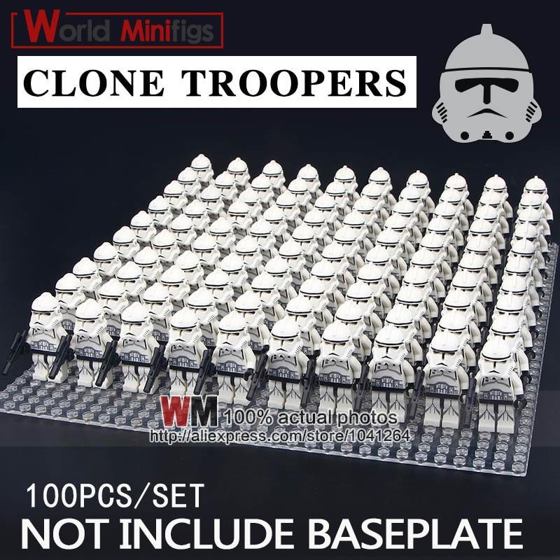 100 pz/lotto Building Blocks Clone Trooper Swamp Trooper Corps Trooper Regali Educativi Giocattoli per I Bambini-in Blocchi da Giocattoli e hobby su  Gruppo 1